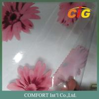 137cm width 0.18mm thickness 100% PVC Printed Transparent film / pvc clear sheet Manufactures