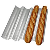Buy cheap Carbon Steel 4 Wave Gutter Non Stick French Bread Perforated Tray Baking Baguette Pan from wholesalers