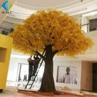 Wholesale Eco Friendly Plastic Yellow Ginkgo Biloba Tree , Fake Ginkgo Tree Leaves from china suppliers