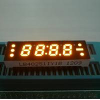 China 0.25 Inch Yellow Four Digit 7 Segment LED Clock Display , Small Current Drive on sale