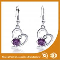 Wholesale 2.6CM Alloy Heart Metal Earrings Jewelry  / Safety Pin Earrings from china suppliers