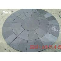 Wholesale Round Grey Slate Paving Stones , Natural Garden Slate Tiles Waterproof from china suppliers