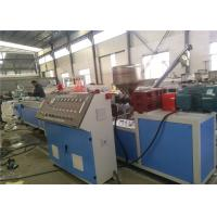 China Plastic Profile Extrusion Line With Conical Twin Screw Extruder , PVC Window Profile Machinery on sale