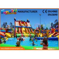 Wholesale Outdoor Inflatable Water Parks Slide With Pool One Year Warranty from china suppliers