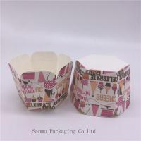 Wholesale Personalized Printed Cupcake Wrappers, Greaseproof Square Cupcake Baking Cups Bakery Set from china suppliers