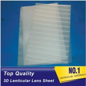 Wholesale Plastic lenticular super transparent thin161lpi 0.25mm PET 3d lenticular lens plastic sheet film for UV offset prining from china suppliers