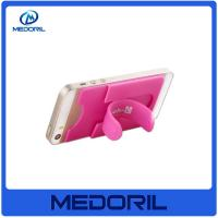 Wholesale Custom print 3M adhesive silicone smart wallet mobile card holder from china suppliers