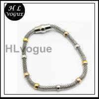 China 4mm silver color round hole mesh stainless steel necklace on sale
