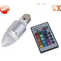 Wholesale 3w E27 Red,Green,Blue RGB Color Changing Remote Controlled LED Light Bulbs AC90 - 240V from china suppliers
