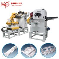 Buy cheap Metal Decoiler Straightener Press Feeding Equipment Hydraulic Cutter Hold Down Device from wholesalers