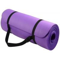 Buy cheap High Density Yoga Exercise Equipment Anti  Tear NBR Yoga Mat With Carrying Strap from wholesalers
