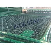 Buy cheap Green / Balck Wire Mesh Fencing  PVC Coated 0.5 - 6m Width Chain Link Fence from wholesalers