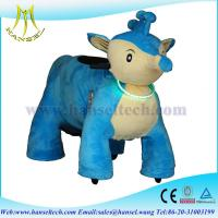 China Hansel plush electrical riding toy rides animal in shopping mall cars for kids on sale