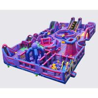 Buy cheap Giant Bouncy Indoor Inflatable Obstacle Course Juego Jockey / Blow Up Amusement Park from wholesalers