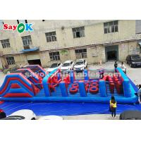 Buy cheap PVC Long Inflatable Obstacle Game For Outdoor Sports , Amusement Park from wholesalers