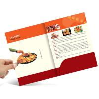 Buy cheap A4 Size Full Color Brochures Pocket Paper Cardboard File Folder For Office from wholesalers