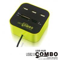 Buy cheap COMBO USB HUB,all in 1 card reader with USB HUB from wholesalers