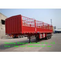 China Mechanical Suspension Side Wall Trailer with JOST Brand Support Leg for Cargo Shipping on sale