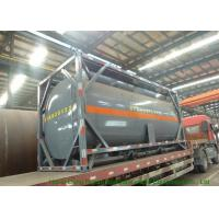 Buy cheap Steel 20 Foot Tank Container For Sodium Hypochlorite And Hydrochloric Acid 20000L from wholesalers