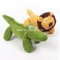Buy cheap 2018 new Yellow lion and green crocodile plush pet dog soft toys product