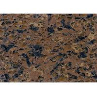 Buy cheap Durable Pre Cut Brown Quartz Stone Countertops Quartz Kitchen Work Tops from wholesalers