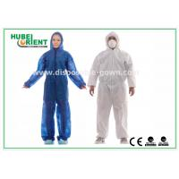 Quality Hooded Disposable Protective Coverall With Elastic Wrist / Ankle / Waist for sale
