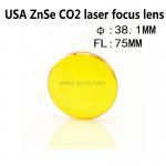 Buy cheap USA ZnSe laser pointer lens 38.1MM diameter 75MM focus length for laser engraving machine from wholesalers