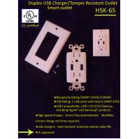 Buy cheap USA standard Duplex USB ports wall socket receptacle from wholesalers
