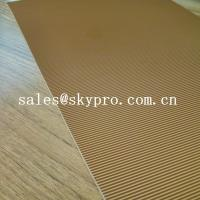 Abrasion Resistant Natural Crepe Shoe Sole Rubber Sheet Corrugated Pattern Manufactures