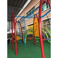 Wholesale Durable Kids Outdoor Gym Equipment Aluminium Alloy Post With Arch PE Plastic Climber from china suppliers