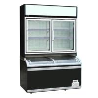 Buy cheap 900L Multipurpose Double Glass Door Upright Freezer from wholesalers