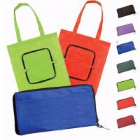 Buy cheap Promotional Non Woven Reusable Shopping Bag Folds Into Itself Custom Logo from wholesalers