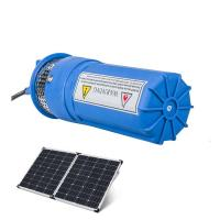 Buy cheap Whalelfo105-110PSI 12v 100m deep well high capacity solar powered plastic water pump system for agriculture from wholesalers