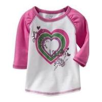 Wholesale Purple faux-layered Anti - Wrinkle toddler graphic tees pure cotton Long Sleeve  from china suppliers