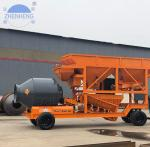 Buy cheap 35CBM/Hour YHZM35 Mobile Concrete Batching Plant Easily Move from wholesalers