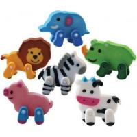 Buy cheap Factory Wholesale Shcool Kids 3D Cute Animal Erasers/pencil eraser/cheap promotiona eraser from wholesalers