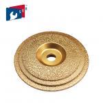 Buy cheap 125mm Vacuum Brazed Diamond Cup Wheel , Metal Bond Diamond Grinding Wheels from wholesalers