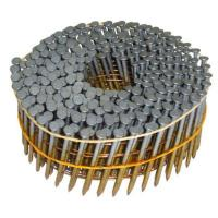 Buy cheap Bright Finish Screw Shank Coil Nails , Wire Collated Hot Dipped Coil Nails from wholesalers