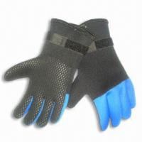Buy cheap Neoprene Gloves with Velcro Closure Elastic Wrist and Glued/Blind-stitched Seams from wholesalers