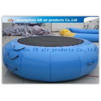 Buy cheap Exciting Inflatable Water Game / Rave Sports Water Trampoline Blue Color from wholesalers