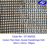 Buy cheap 20MM X 20MM Carbon Fiber Mesh Fabric Sustainable Concrete For Structure Reinforcement from wholesalers