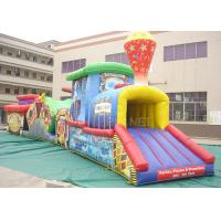 Wholesale Challenge Race Inflatable Obstacle Course Train Tunnel Climb Slide from china suppliers