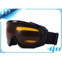 Buy cheap UV OTG Womens Reflective Black Custom Snow Goggles Silver Chroming from wholesalers