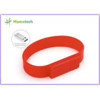 Buy cheap Custom Silicone Bracelet Usb Flash Drive 4GB L 220mm X W 18mm X D 8mm product