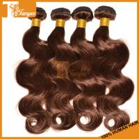 Buy cheap 5A Dark Brown Hair Dye Brazilian Body Wave Chocolate Brown Hair Color Walnut Brown Hair Co from wholesalers