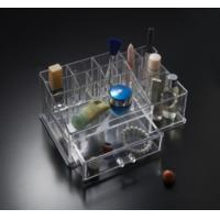 Buy cheap acrylic clear makeup cosmetic organizer with dividers and drawers from wholesalers