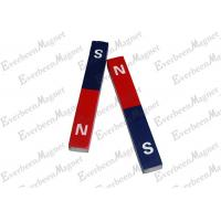 China Alnico Bar Magnet 180 mm Length Painted Red and Blue Color for Education science on sale