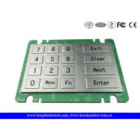 Buy cheap Ruggedized Vandal-Resistant Metal Numeric Keypad With 16 Large Metal Keys For Vending Machine from wholesalers