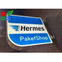Buy cheap Aluminum Frame LED Shop Display Branding Sign Double Sided For Clothes Shop product