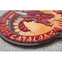 Buy cheap Custom Colorful PVC Patches  ,  Embossed  And Screen Printing Garments Logo from wholesalers